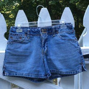 Old Navy Blue Low Waist Jean Denim Shorts 6